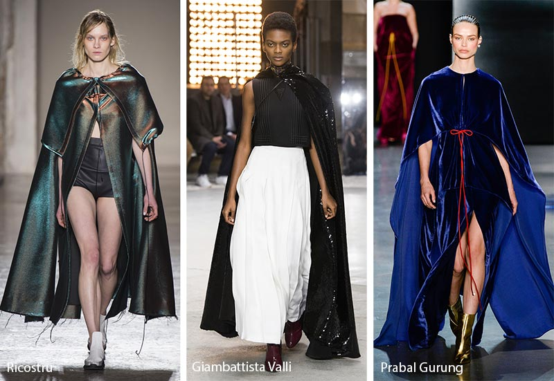 Fall/ Winter 2018-2019 Fashion Trends: Flowing Capes