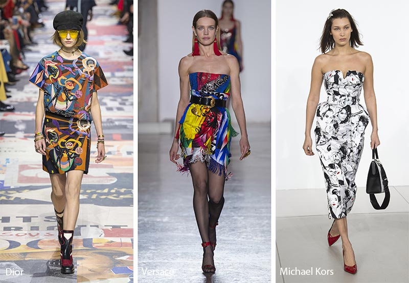 Fall/ Winter 2018-2019 Print Trends: Abstract Art Patterns