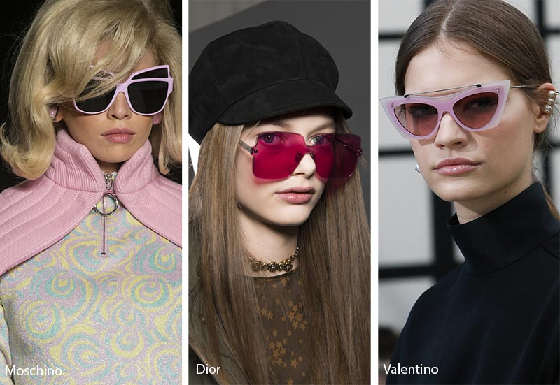 Fall/ Winter 2018-2019 Sunglasses Trends: Pink Sunglasses