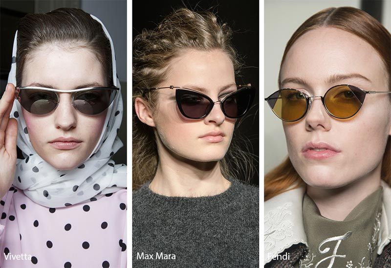 Fall/ Winter 2018-2019 Sunglasses Trends: Pointed Cat Eye Sunglasses