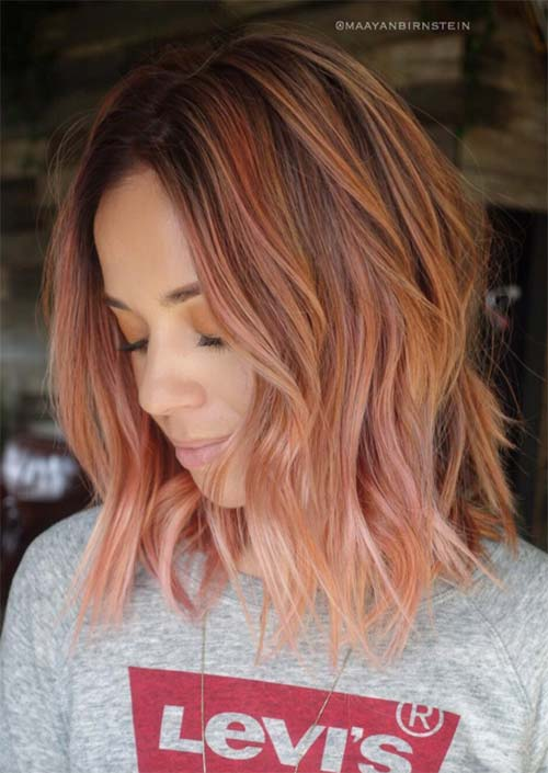 Spring Hair Colors Ideas & Trends: Blush Pumpkin Hair