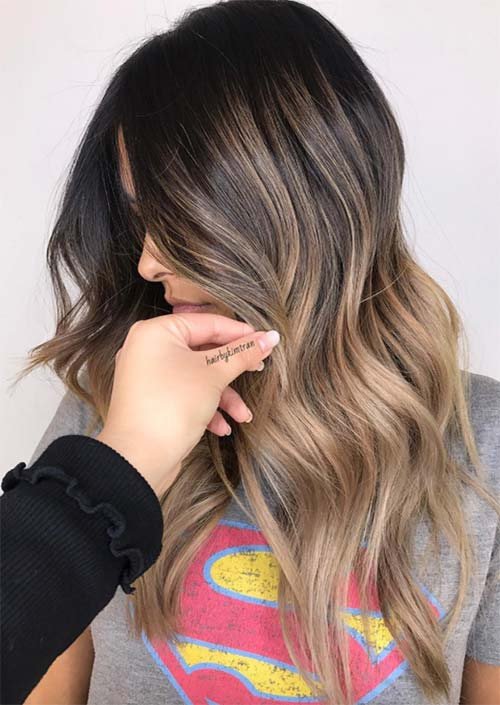 Spring Hair Colors Ideas & Trends: Chocolate Brown Blonde Ombre Hair