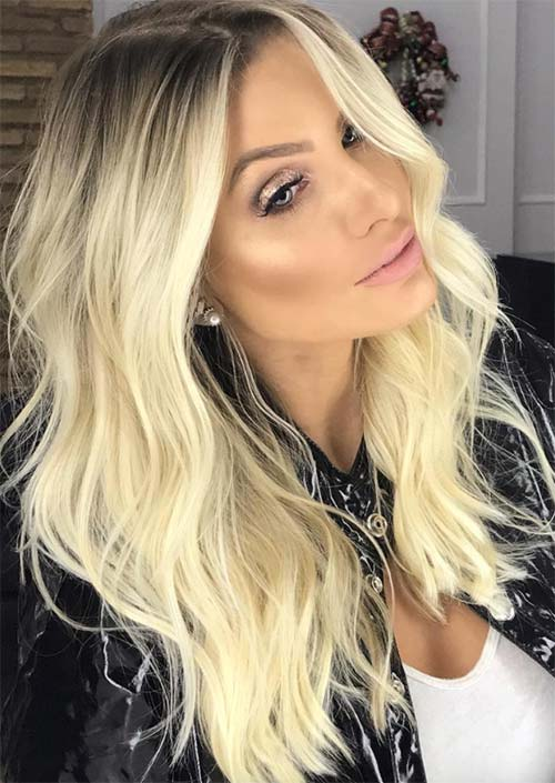 Spring Hair Colors Ideas & Trends: Creamy White Blonde Hair