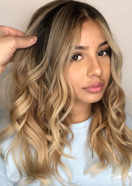 Spring Hair Colors Ideas & Trends: Golden Bronde Hair