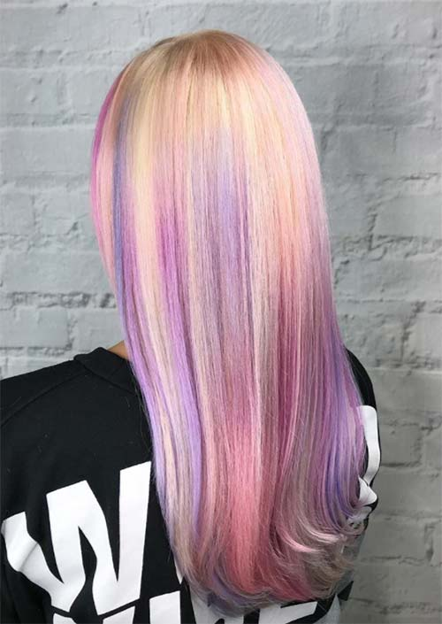 Spring Hair Colors Ideas & Trends: Marshmallow Pink Hair