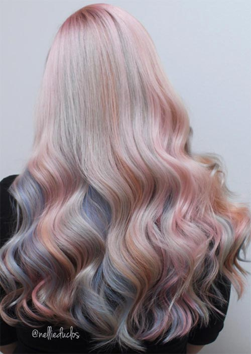 Spring Hair Colors Ideas & Trends: Pastel Pink Unicorn Hair