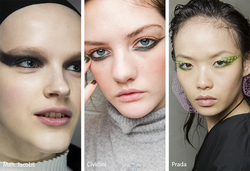 Fall/ Winter 2018-2019 Makeup Trends: Exaggerated Bold Cat Eye Makeup