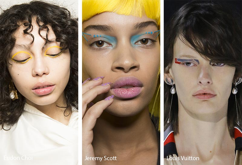 Fall/ Winter 2018-2019 Makeup Trends: Freestyle & Abstract Eyeliner