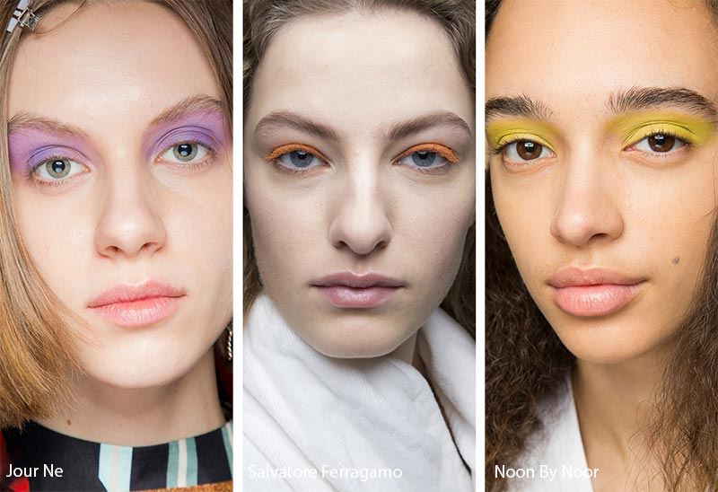 Fall/ Winter 2018-2019 Makeup Trends: Statement Eyeshadow with No-Makeup Makeup