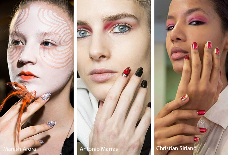 Fall/ Winter 2018-2019 Nail Trends: Accented Nails Designs