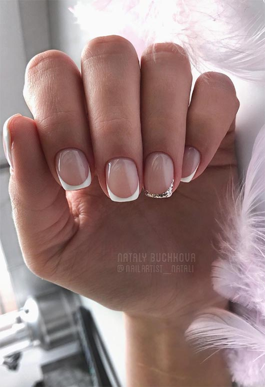 Fresh French Nail Designs: French Manicure Ideas - 27 Fresh French Nail Designs: How To Do French Manicure At Home