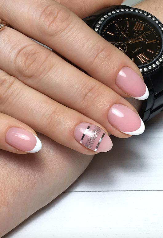 27 Fresh French Nail Designs: How to Do French Manicure at Home ...