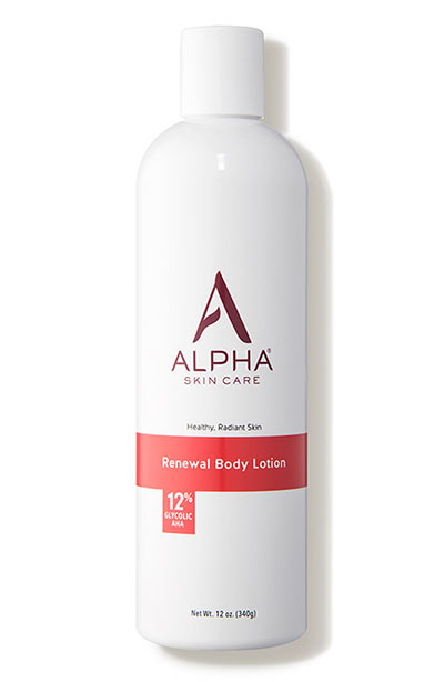 Best AHA/ Glycolic Acid Creams, Serums, Face Wash, Products: Alpha Skincare Renewal Body Lotion 12% Glycolic AHA
