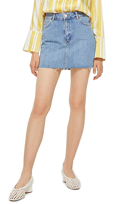 Best Mini Denim Skirts: Topshop Denim Mini Skirt