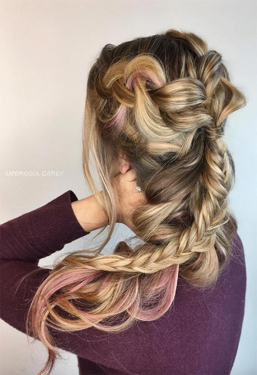 Long Hair Braids: Braided Hairstyles for Long Hair: Fairytale Layered Long Braids