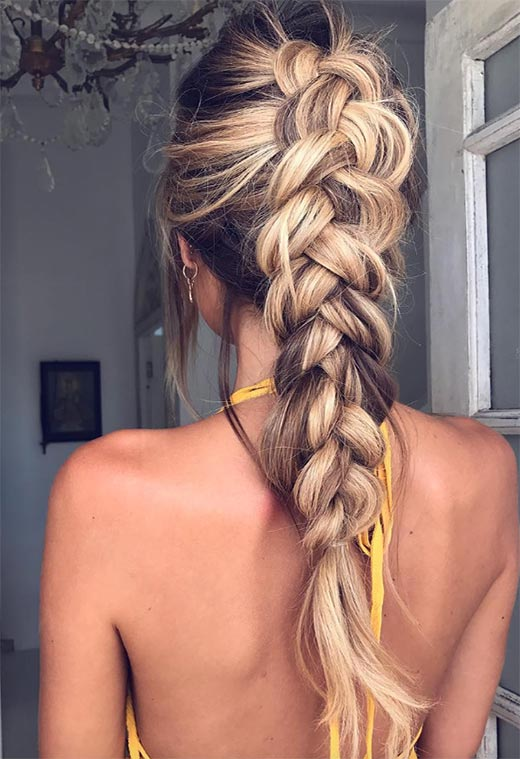 Long Hair Braids: Braided Hairstyles for Long Hair: Loose Dutch Braid