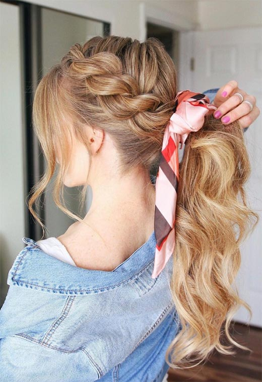 Long Hair Braids: Braided Hairstyles for Long Hair: Side Rope Braid Ponytail
