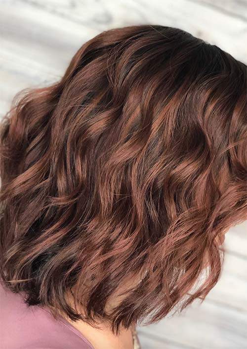 Rose Brown Hair Trend: Rose Brown Hair Colors Ideas