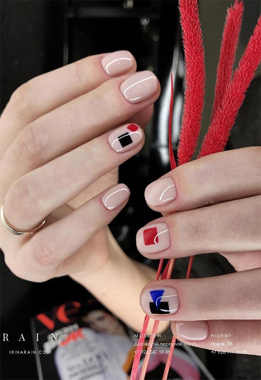 65 Awe-Inspiring Nail Designs for Short Nails - Short Nail