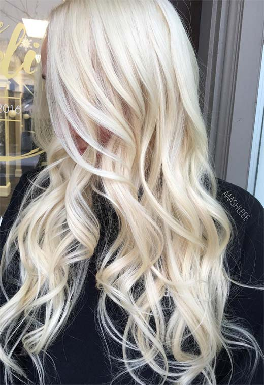 Summer Hair Colors Ideas & Trends: Bleach Blonde Hair Color
