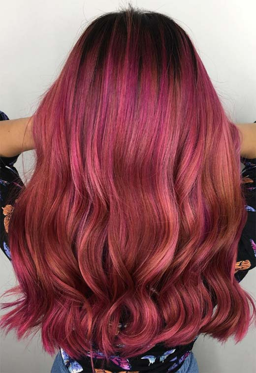 Summer Hair Colors Ideas & Trends: Neon Magenta Hair Color