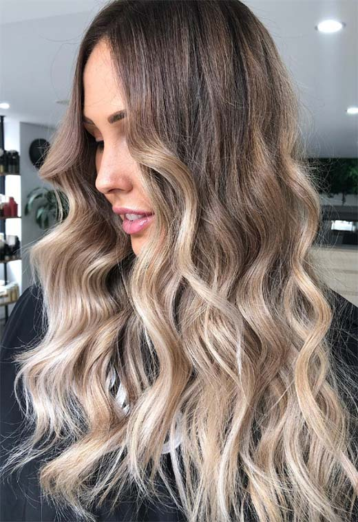 Summer Hair Colors Ideas & Trends: Ombre Cappuccino Hair Color