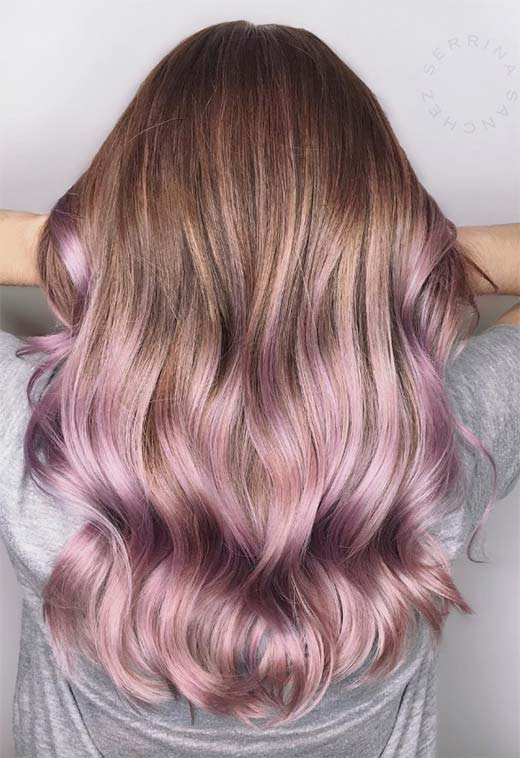Summer Hair Colors Ideas & Trends: Pearl Lavender Hair Color