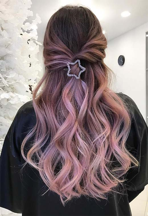 Summer Hair Colors Ideas & Trends: Smokey Lavender Hair Color