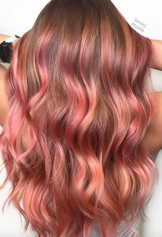 Summer Hair Colors Ideas & Trends: Strawberry Pink Hair Color