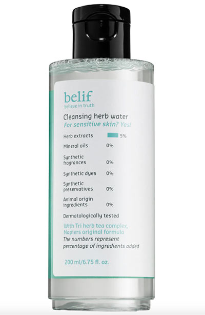 Best Cleansing Micellar Waters: Belif Cleansing Herb Water