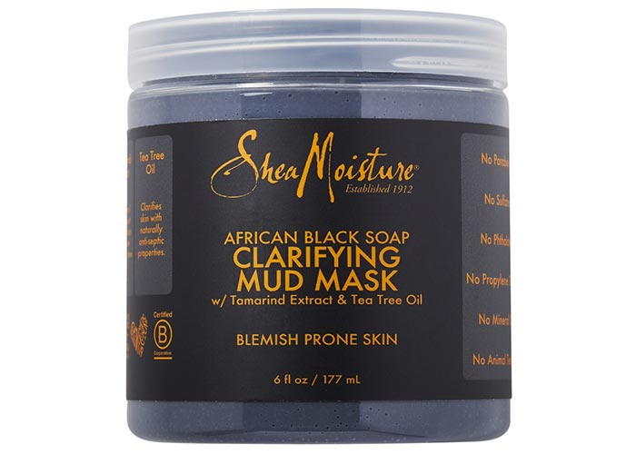 Best Facial Mud Masks: Sheamoisture African Black Soap Clarifying Mud Mask