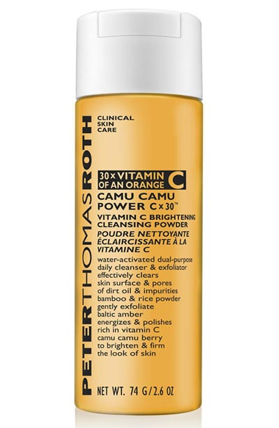 Best Powder Cleansers & Dry Scrubs: Peter Thomas Roth Camu Camu Cx30 Vitamin C Brightening Powder Cleanser