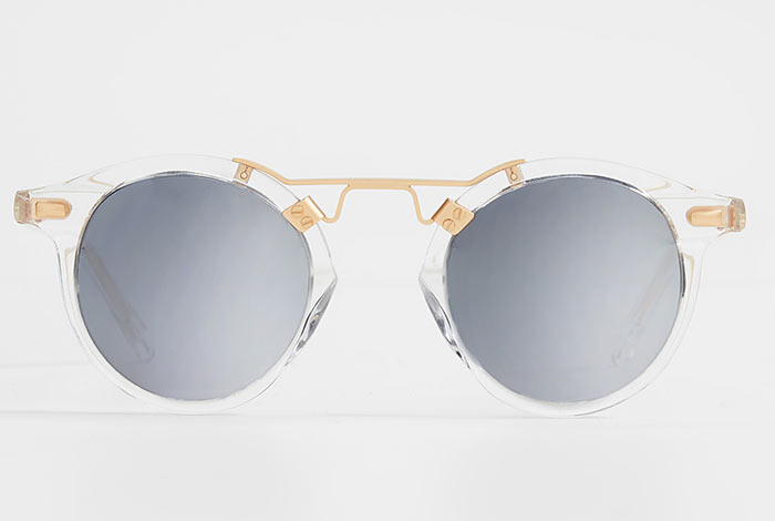 Best Round Sunglasses for Women: Krewe St Louis Clear Round Sunglasses