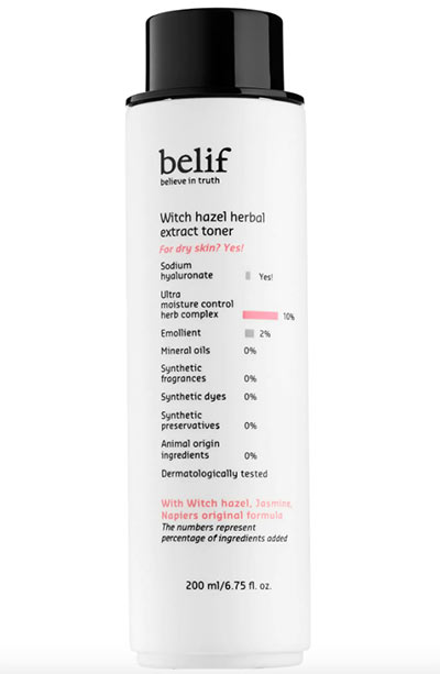 Best Witch Hazel Toners & Other Skin Products: Belif Witch Hazel Herbal Extract Toner