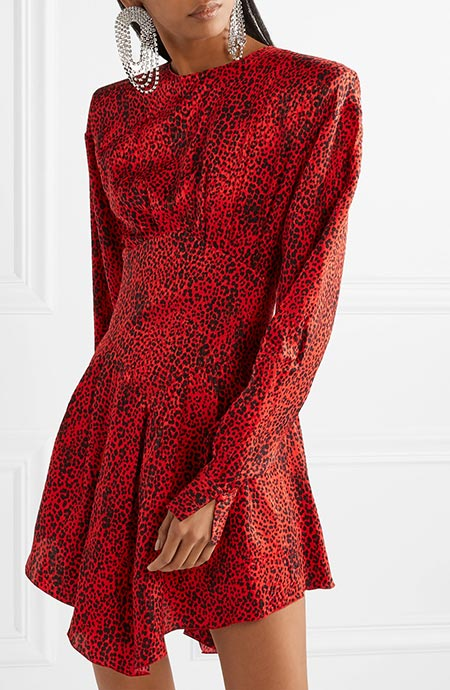 Animal/ Leopard Print Dresses: Alessandra Rich Leopard Print Dress