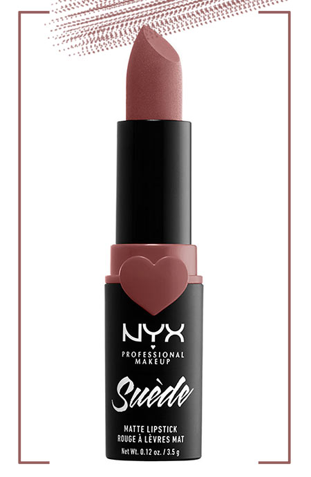 Best NYX Lipsticks Colors: NYX Suede Matte Lipstick in Brunch Me