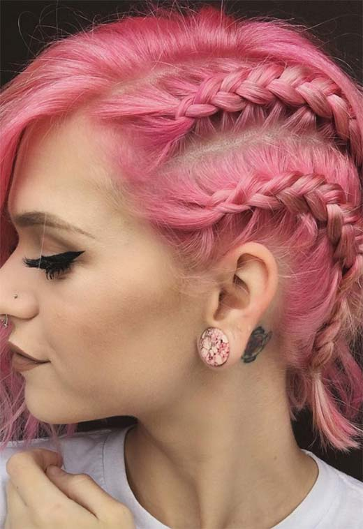 51 Cute Braids For Short Hair Short Braided Hairstyles For Women