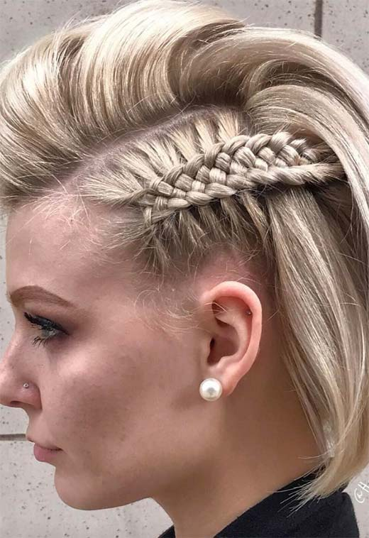 51 Cute Braids For Short Hair Short Braided Hairstyles For