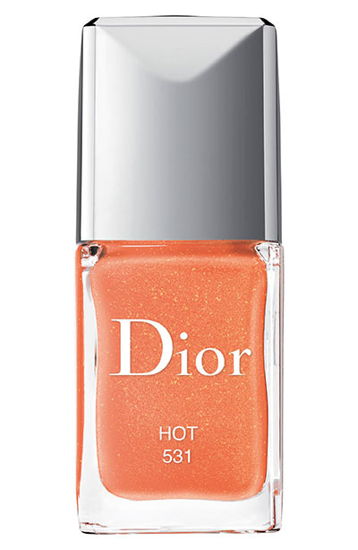 Best Orange Nail Polish Colors: Dior Vernis Gel Shine & Long Wear Orange Nail Lacquer in 531 Hot
