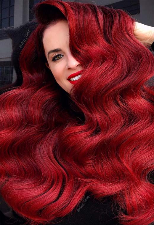 63 Hot Red Hair Color Shades To Dye For Red Hair Dye Tips Ideas