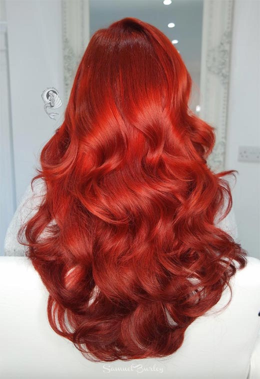 100 Bad Red Hair Colors Auburn Cherry Copper Burgundy Shades Hairstyles Don T Always Require Dye This Combination Of Burnt Orange And