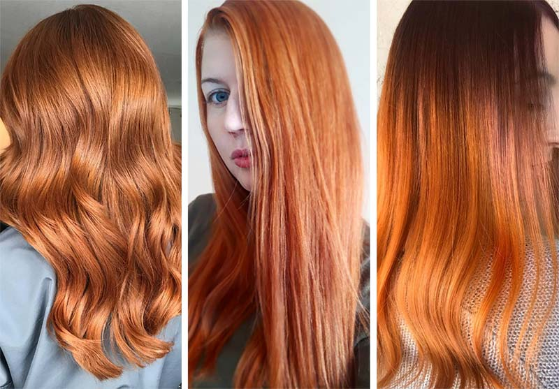 Red Hair Shades & Color Ideas: Ginger Red Hair Color