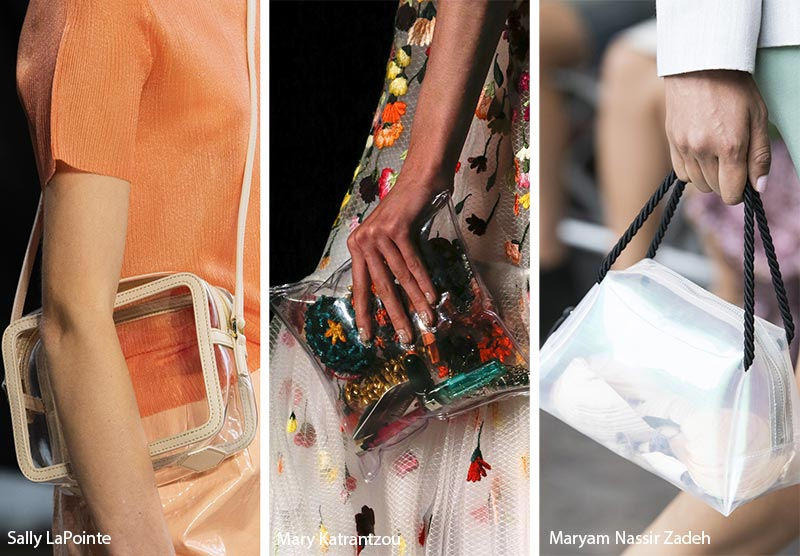 Spring/ Summer 2019 Handbag Trends: Tiny Plastic Clear Bags