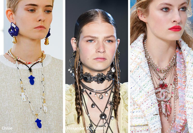 Spring/ Summer 2019 Jewelry Trends: Stacked, Layered Necklaces