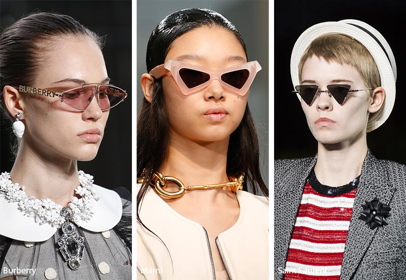 Spring/ Summer 2019 Sunglasses Trends: Triangle Sunglasses