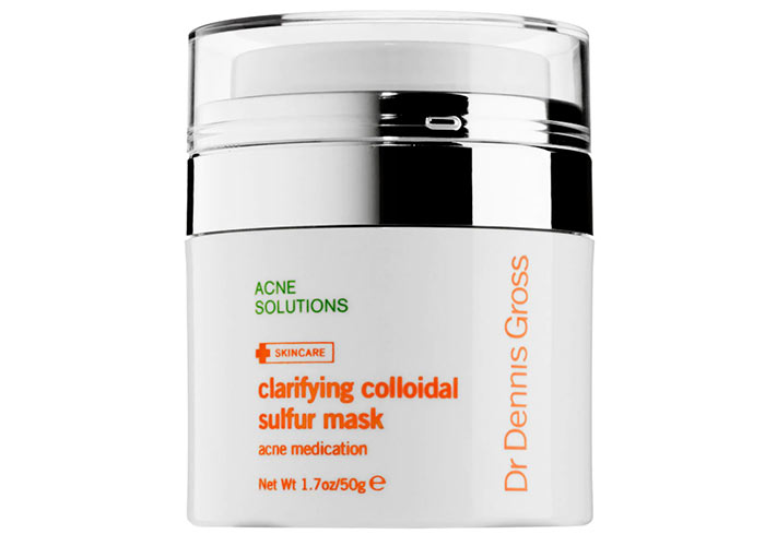 Best Sulfur Masks and Other Skin Products for Acne: Dr. Dennis Gross Skincare Clarifying Colloidal Sulfur Mask
