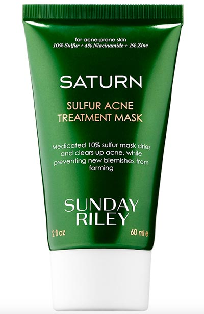 Best Sulfur Masks and Other Skin Products for Acne: Sunday Riley Saturn Sulfur Acne Treatment Mask