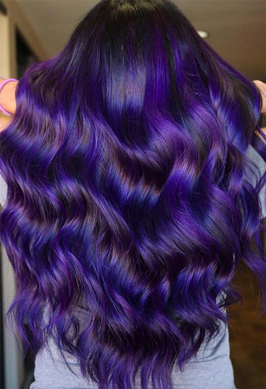 63 Purple Hair Color Ideas To Swoon Over Violet Purple Hair Dye Tips,Wall Art For Tween Bedrooms
