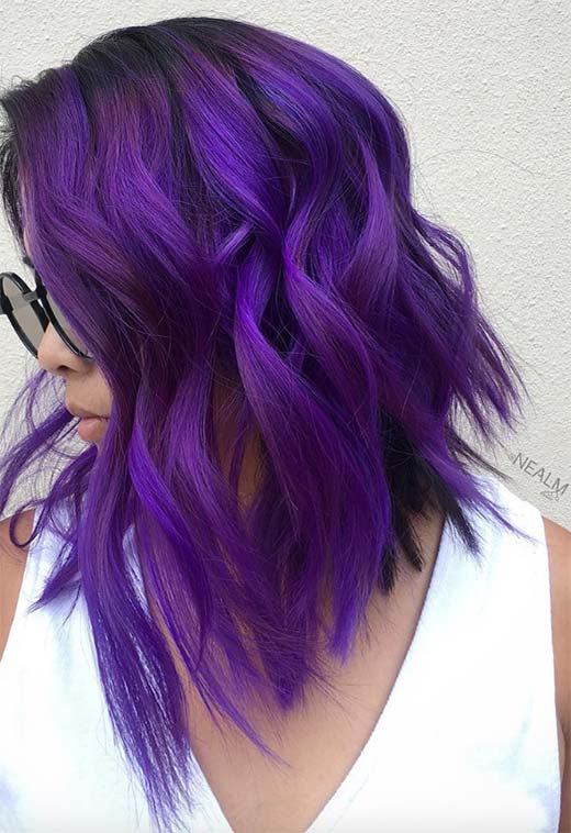 How to Maintain Violet Hair