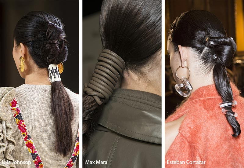 Spring/ Summer 2019 Hair Accessory Trends: Ponytail Wrap